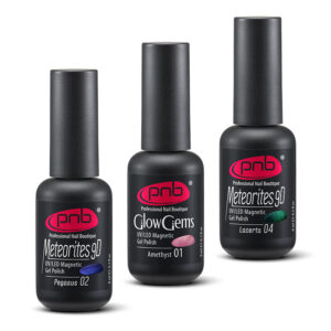 Magnetic gel nail polishes